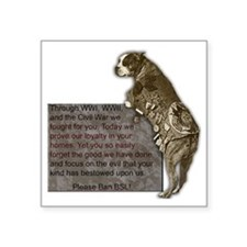 "3-SgtStubby Square Sticker 3"" x 3"""
