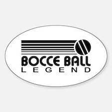 Bocce Ball Legend Sticker (Oval)