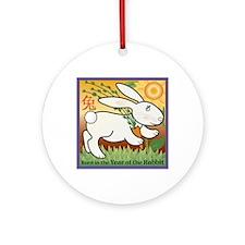 RabbitTshirt Round Ornament
