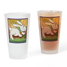 RabbitTshirt Drinking Glass
