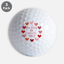 heart smile Golf Ball