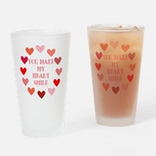 heart smile Drinking Glass