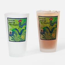 SnakeTshirt Drinking Glass