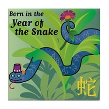 SnakeTshirt Tile Coaster