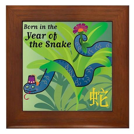 SnakeTshirt Framed Tile