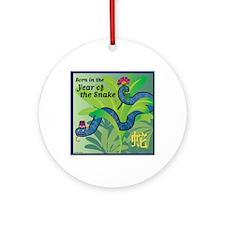 SnakeTshirt Round Ornament
