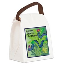 SnakeTshirt Canvas Lunch Bag