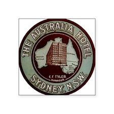 "2-AUSTRAILIA HOTEL Square Sticker 3"" x 3"""