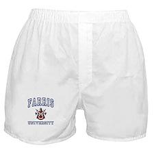 FARRIS University Boxer Shorts