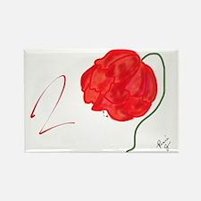 Flower Rose Rectangle Magnet