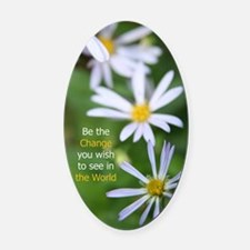 ChangingDaisy Oval Car Magnet