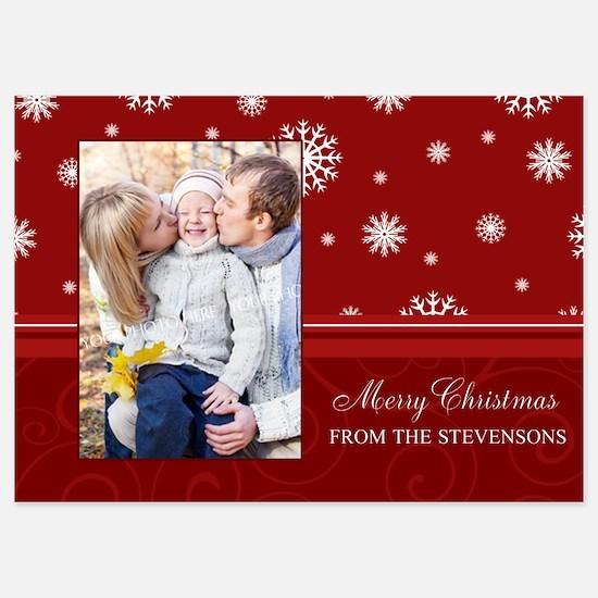 Red Photo Christmas Invitations