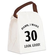 damn 30 - light Canvas Lunch Bag