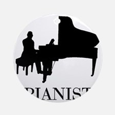 Pianist Round Ornament