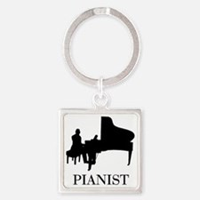 Pianist Square Keychain