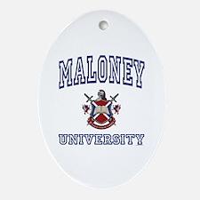 MALONEY University Oval Ornament
