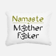 Namaste M*ther F*ker Rectangular Canvas Pillow