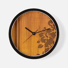 koahibiscuspadcase Wall Clock