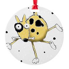 2-dog with bone Ornament