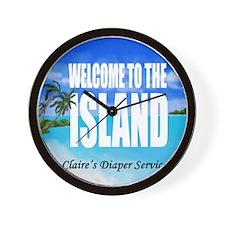 Claires Diaper Service Wall Clock