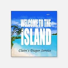 """Claires Diaper Service Square Sticker 3"""" x 3"""""""