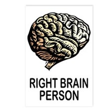 RIGHT BRAIN Postcards (Package of 8)