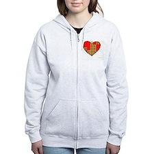 Courageous Heart 10x10_all Zip Hoodie