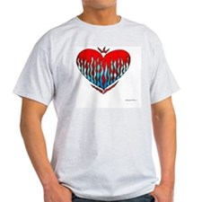 Fire  Ice Heart 10x10_all T-Shirt