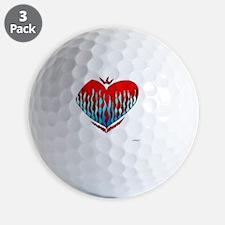 Fire  Ice Heart 10x10_all Golf Ball