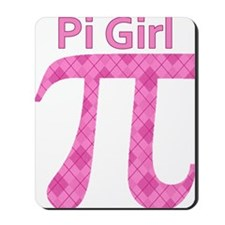 Pi Girl Pink Argyle Mousepad