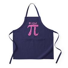 Pi Girl Pink Argyle Apron (dark)