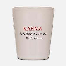 Karma Is A Bitch Shot Glass