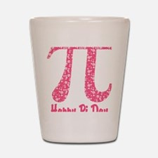 Pink Flowers Pi Day Shot Glass