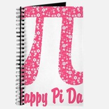 Pink Flowers Pi Day Journal
