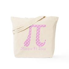 Pink Dots Pi Day Tote Bag