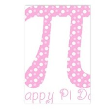 Pink Dots Pi Day Postcards (Package of 8)