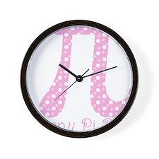 Pink Dots Pi Day Wall Clock