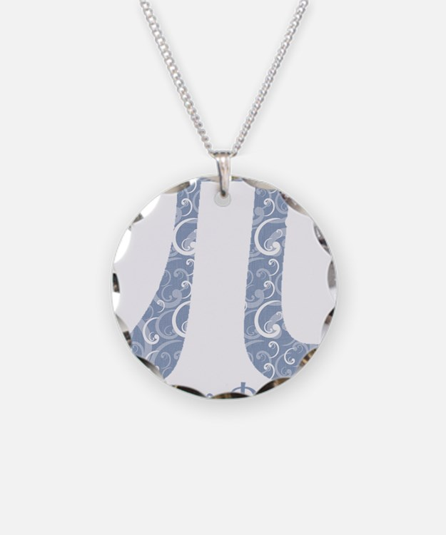 Chambray Swirls Pi Day Necklace
