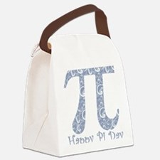Chambray Swirls Pi Day Canvas Lunch Bag