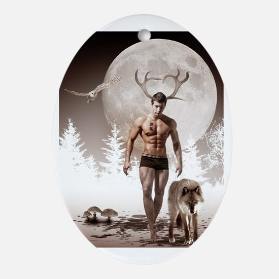 Herne the Hunter Oval Ornament