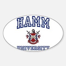 HAMM University Oval Decal