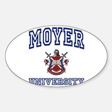 MOYER University Oval Decal