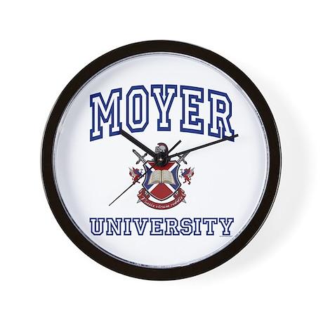 MOYER University Wall Clock
