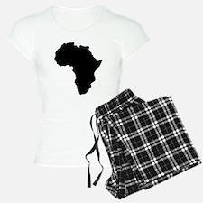Shape map of AFRICA pajamas