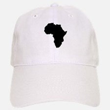 Shape map of AFRICA Baseball Baseball Cap