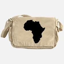 Shape map of AFRICA Messenger Bag