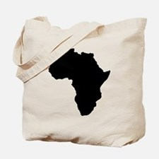 Shape map of AFRICA Tote Bag