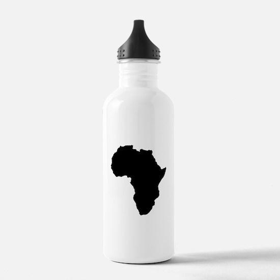Shape map of AFRICA Sports Water Bottle
