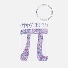 Pi Day Girly Paint Splatte Keychains