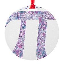 Pi Day Girly Paint Splatter Ornament